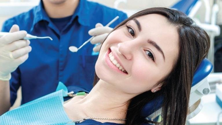 girl smiling at best dentist in mt pleasant sc